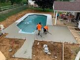 concrete deck for a new pool